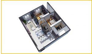Căn hộ 2 phòng ngủ Tara Residence