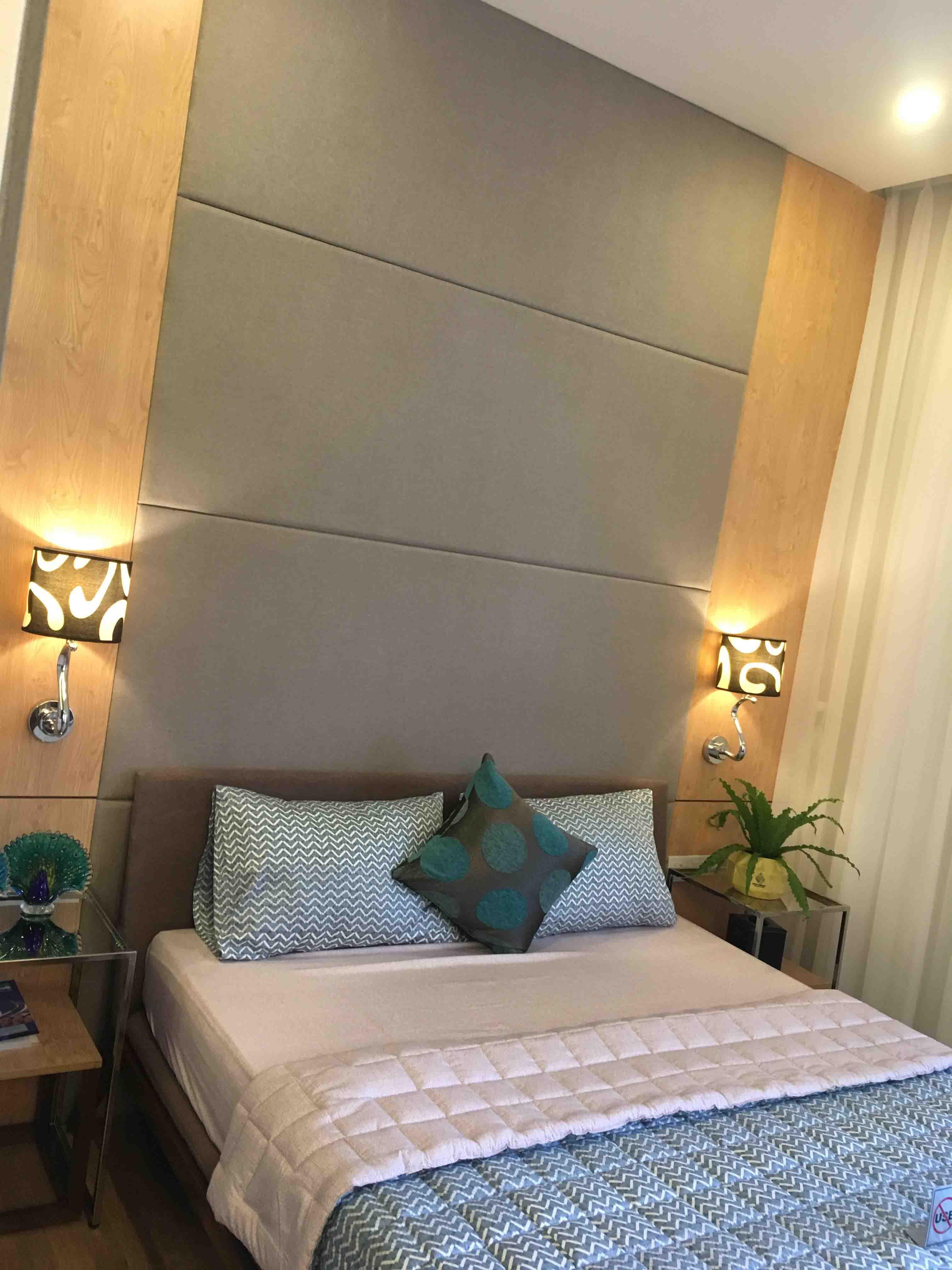 Phòng ngủ căn hộ mẫu The Western Capital quận 6 thực tế