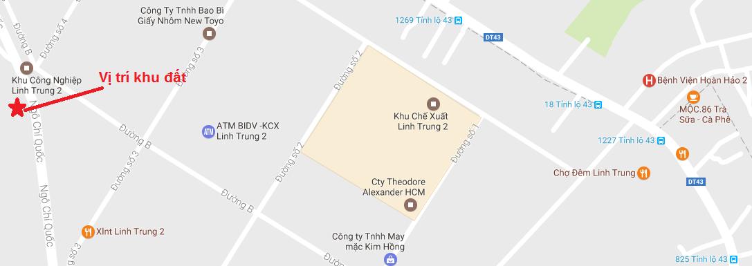 Vị trí khu đất mặt tiền Ngô Chí Quốc