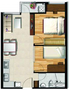 Mẫu thiết kế căn hộ loại 1