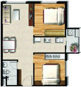 Mẫu thiết kế loại căn hộ 2