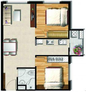Mẫu thiết kế loại căn hộ 3