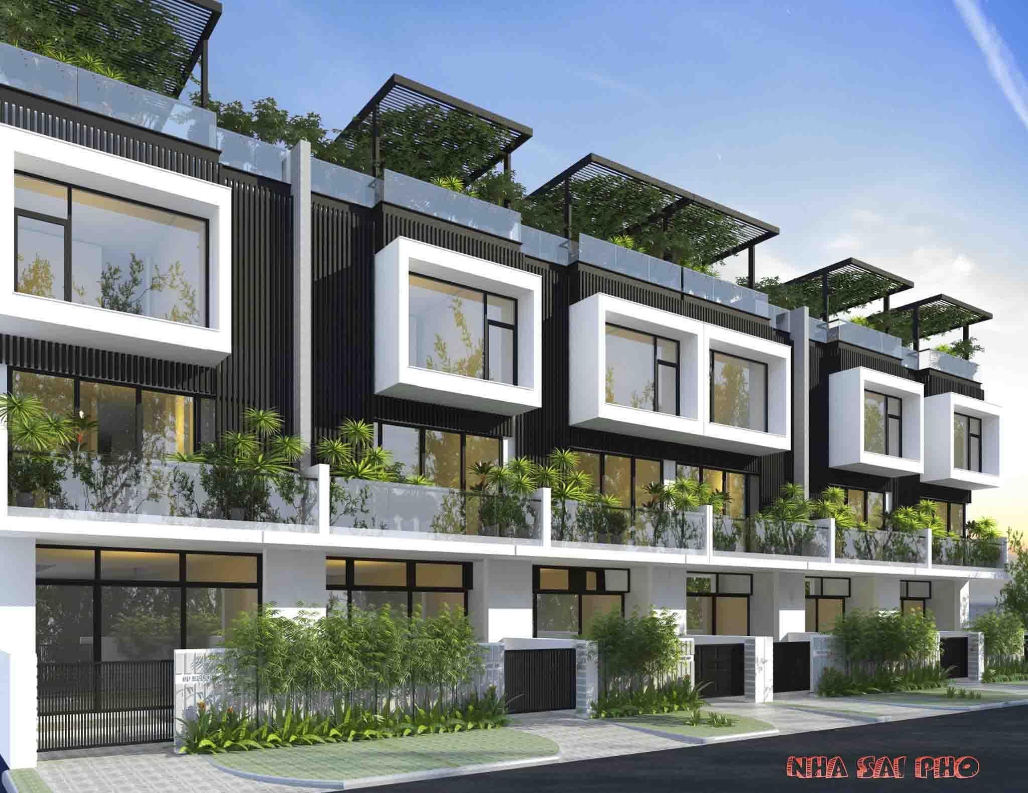 Thiết kế mẫu Nhà diện tích 5mx20m Dự Án Đông Tăng Long