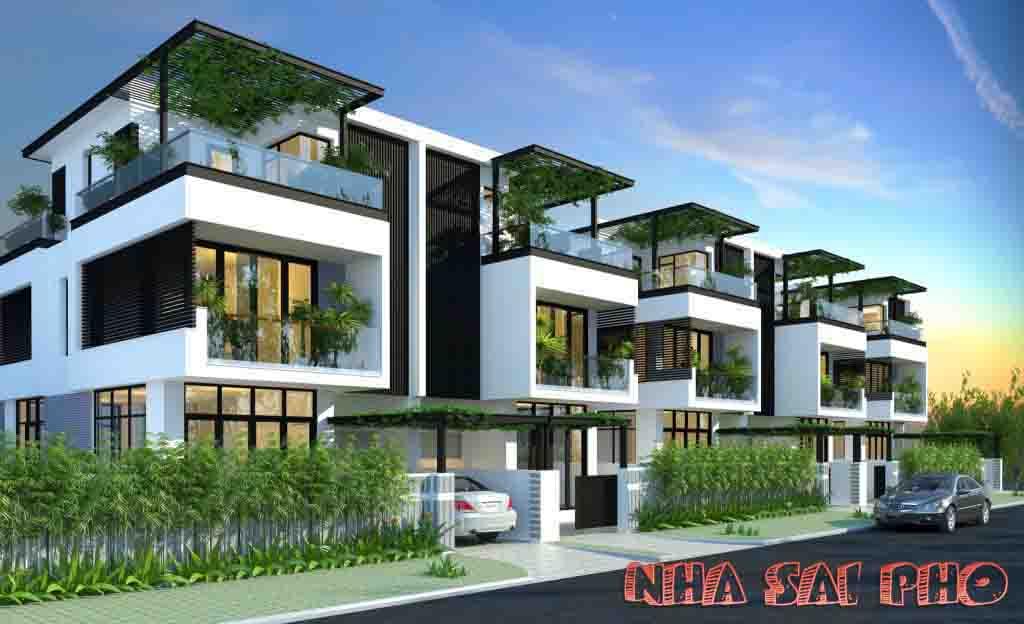 Thiết kế mẫu Nhà Ngang 8mx20m Dự Án Đông Tăng Long