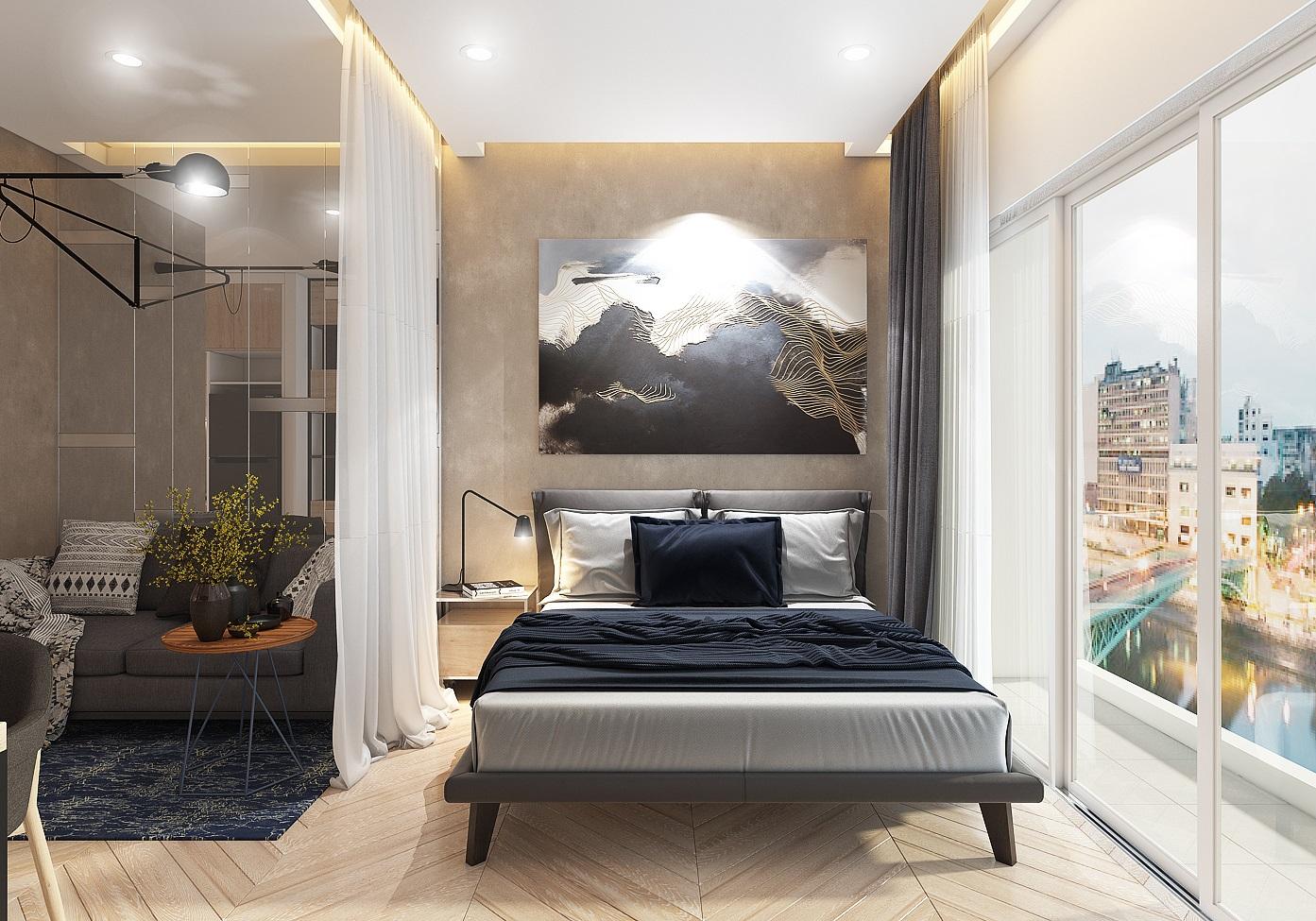 Phòng ngủ căn hộ Officetel Millennium