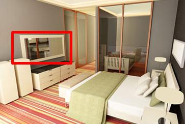 Không đặt gương tùy tiện đối diện giường ngủ