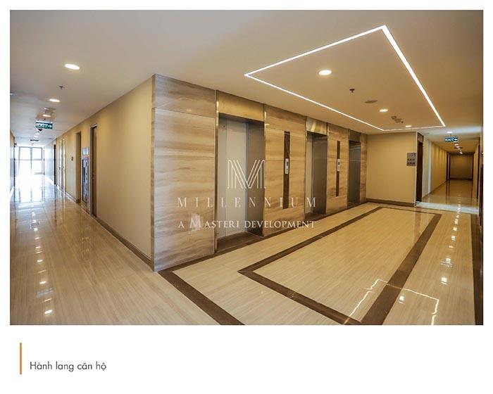 Hành lang căn hộ Officetel Masteri Millennium