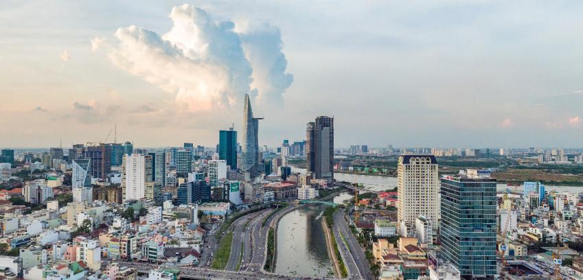 Quang cảnh thành phố nhìn từ căn hộ officetel Millennium
