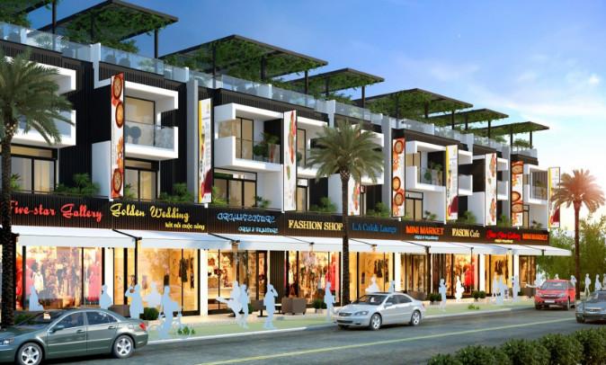 Thiết kế mẫu nhà thương mại 5x20 dự án Đông Tăng Long