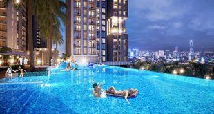 Tiện ích nội khu dự án Kingdom 101 - Hồ bơi tràn cao cấp