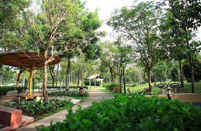 Tiện ích nội khu dự án Kingdom 101 - công viên cây xanh rộng 1ha
