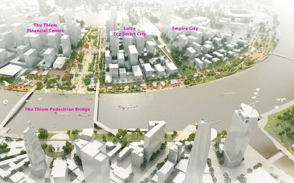 Tổng quát khu dự án khu đô thị thông minh tỷ đô ở Thủ Thiêm