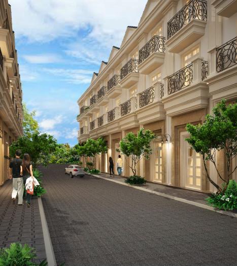 Phối cảnh căn nhà điển hình nhà phố Bến Bình Đông