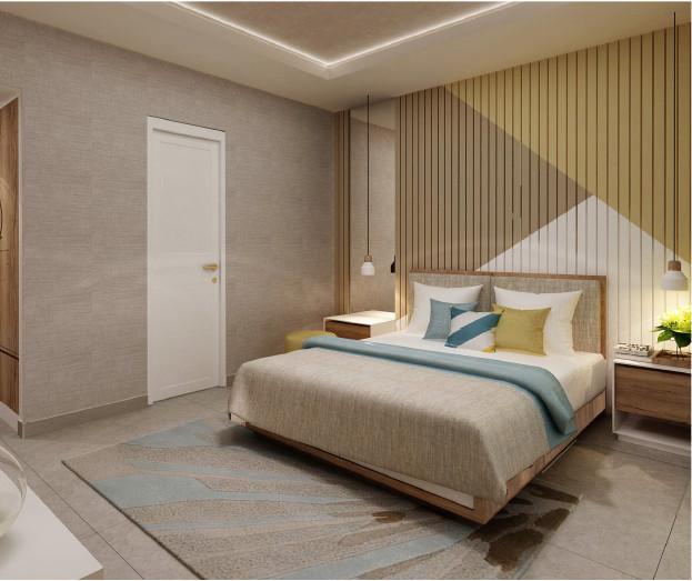 Phối cảnh phòng ngủ 2 tầng 2