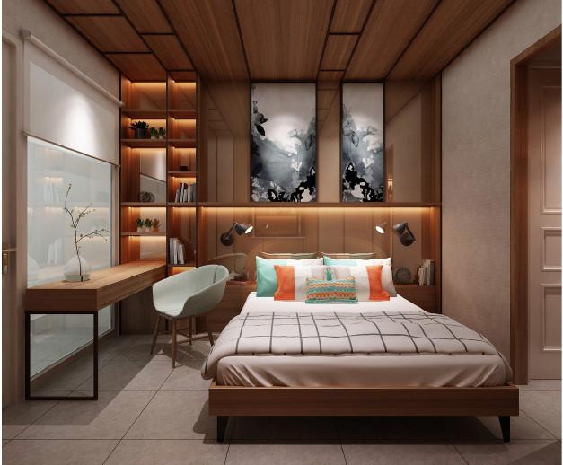 Phối cảnh phòng ngủ 1 tầng 2