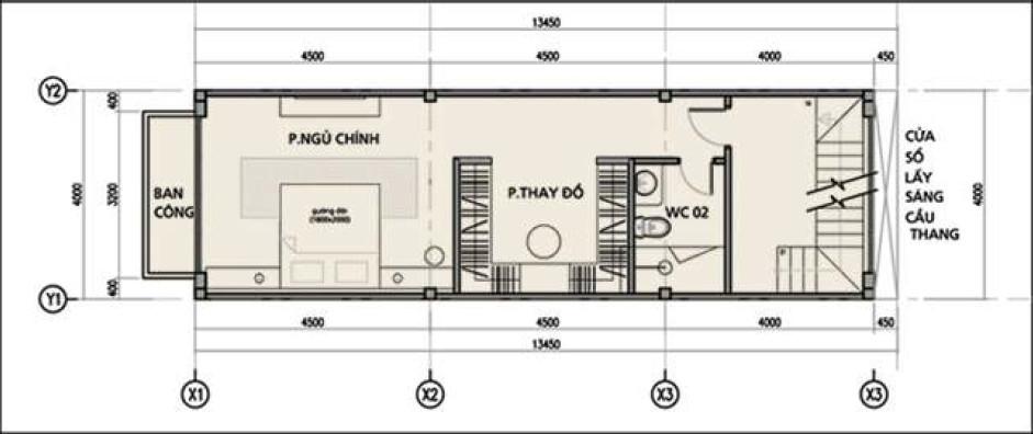 Thiết kế tầng 1 dãy nhà phố đường Bến Bình Đông