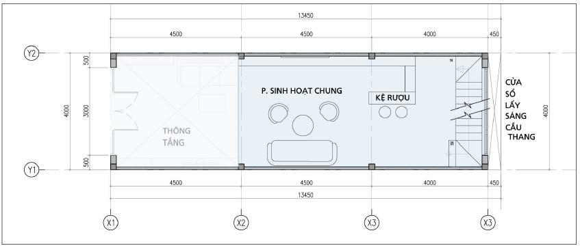Thiết kế tầng lửng nhà phố đường Bến Bình Đông Quận 8