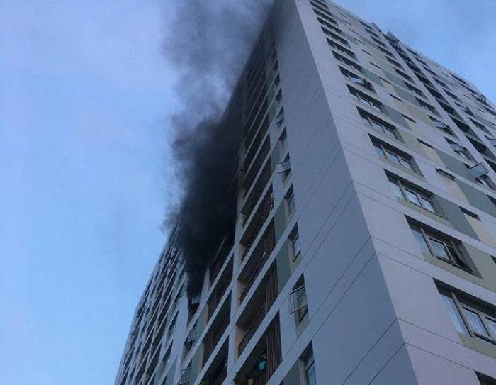Vụ cháy xảy ra ở căn hộ thuộc tầng 8 của tòa nhà ParcSpring