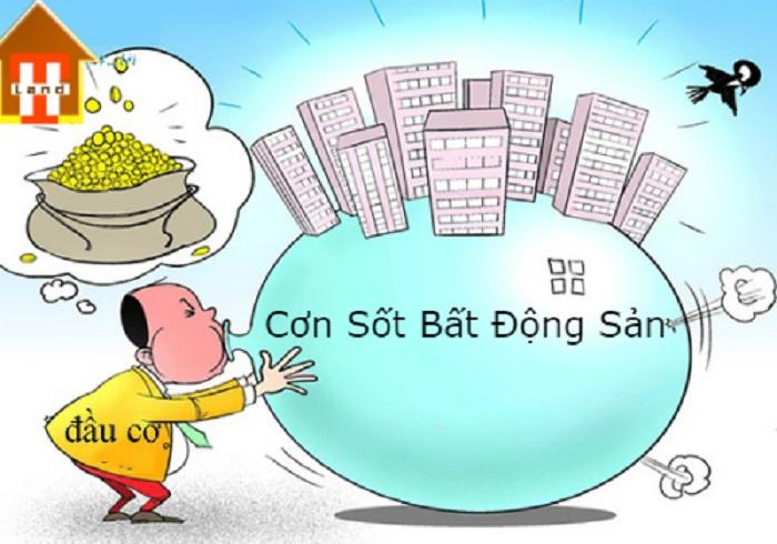 Sốt đất với nguy cơ hình thành bong bóng bất động sản chủ yếu do đầu cơ thổi giá ảo.