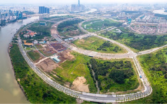 đấu giá 9 lô đất vàng Thủ Thiêm và dự án Sài Gòn One Tower