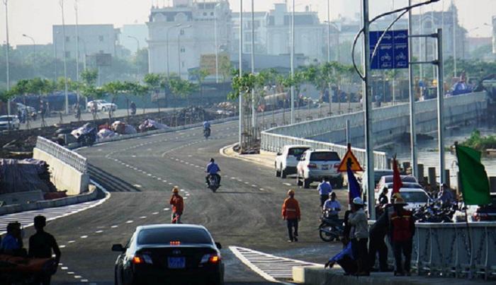 Cầu qua đảo Kim Cương vừa thông xe, giá đất quanh khu vực đã nhanh chóng được điều chỉnh tăng.