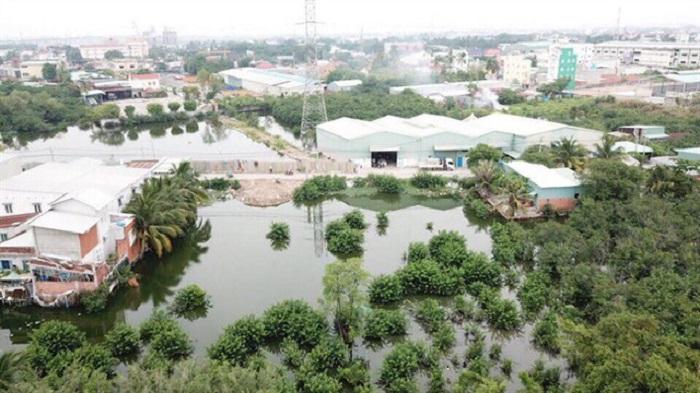 """Hình ảnh khu đất bị thông tin sai lệch là quy hoạch """"dự án nhà ở"""" (ảnh P. An Phú Đông)."""