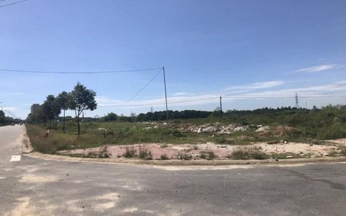 Lô đất được đưa ra đấu giá thuộc dự án Hạ tầng kỹ thuật khu dân cư trục đường Bàu Giang - Cầu Mới.