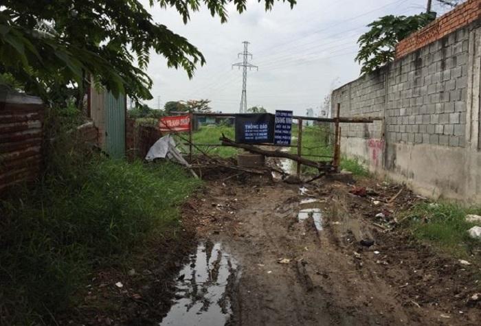Khu đất nằm trong quy hoạch công trình công cộng này được rao bán với giá 34 triệu đồng/m2