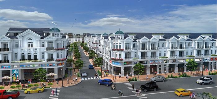 Phối cảnh dự án nhà phố MD Land Bến Bình Đông