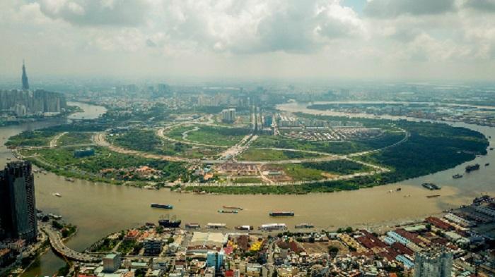 Khu đô thị mới Thủ Thiêm (quận 2) được nhiều nhà đầu tư châu Á quan tâm trong vài năm qua.