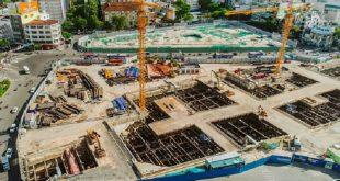 Hiện công trình vẫn đang trong giai đoạn xây dựng dở dang.