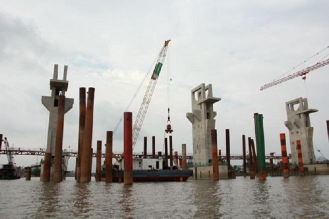 Cống kiểm soát triều Mương Chuối (huyện Nhà Bè) tăng giá trị dự toán khoảng 550 tỉ đồng
