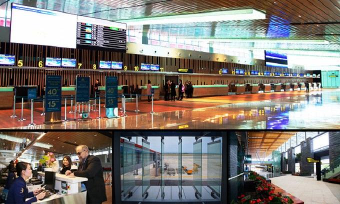 Cảng hàng không quốc tế Vân Đồn đã sãn sàng cho ngày khánh thành.