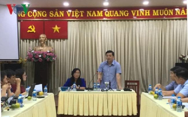 Ông Nguyễn Toàn Thắng phát biểu tại cuộc họp.