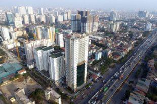 Một khu vực tại Hà Nội xây dựng nhiều nhà chung cư, văn phòng làm việc tại Hà Nội.