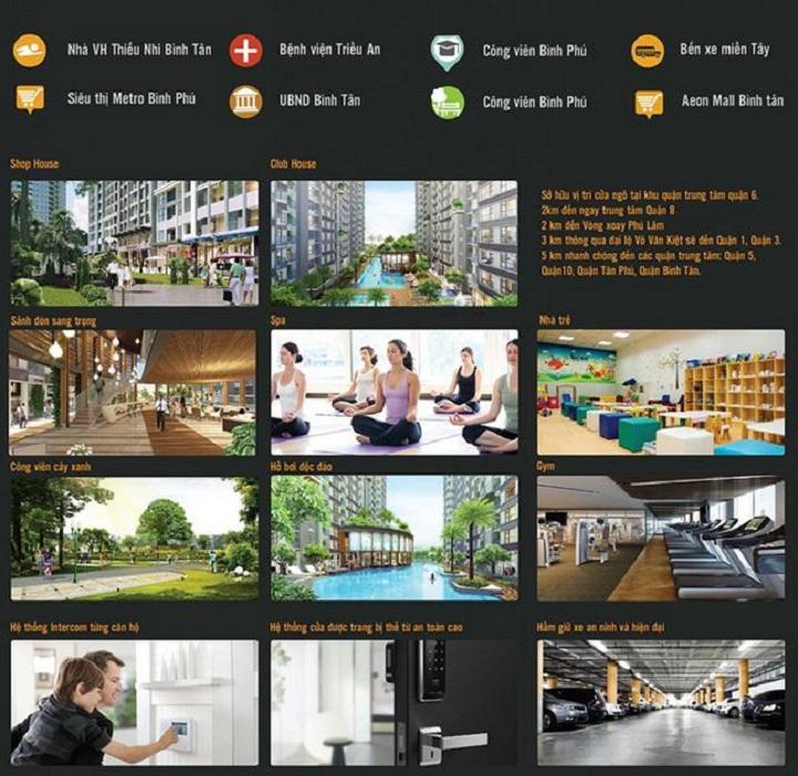Tiện ích nội khu dự án The Western Capital quận 6