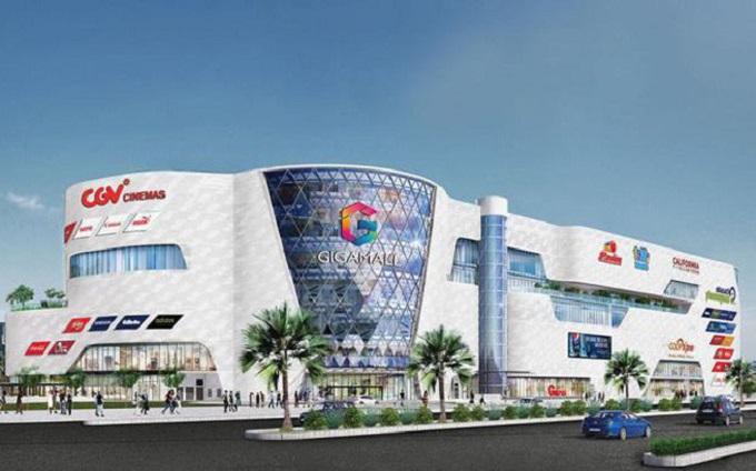 Trung tâm thương mại Gigamall trên đường Phạm Văn Đồng