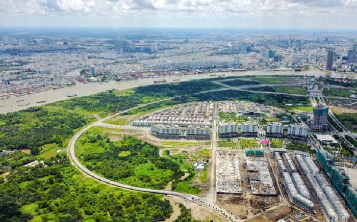 Các lô đất Rl, R2, R3, R4 và R5 trong khu 38,4 ha phường Bình Khánh, quận 2, TP HCM