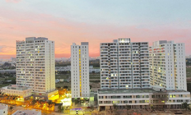 Một dự án bất động sản bình dân tại khu Đông TP HCM.