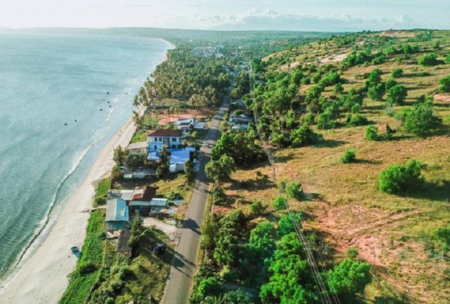 Khu vực chuẩn bị khởi công xây dựng dự án NovaWorld rộng hơn 1.000ha tại Phan Thiết.