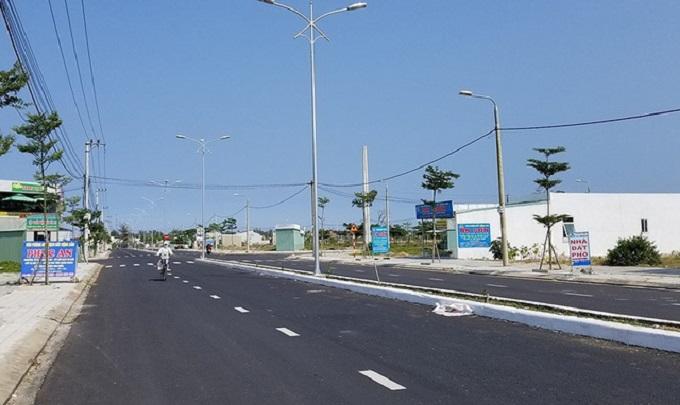 Một góc thị xã Điện Bàn, nơi mà giá đất đang bị đẩy lên thấp nhất 20 triệu/m2.
