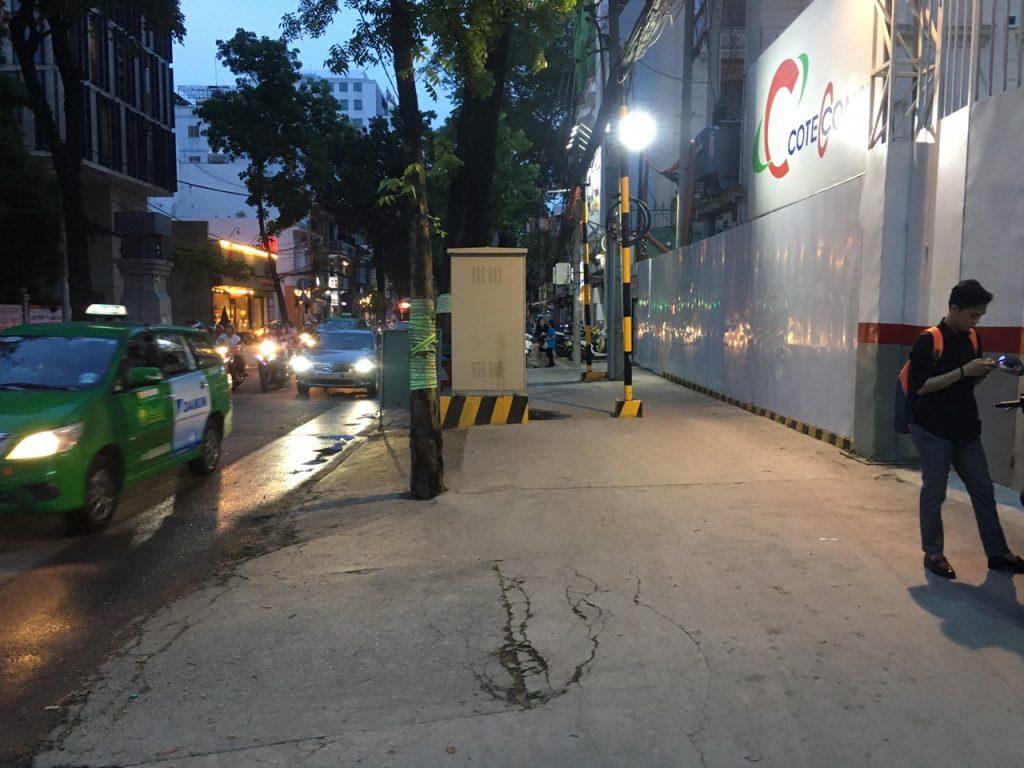 Hình ảnh thực tế giao thông đường Nguyễn Đình Chiểu ngay dự án The MarQ, tối 4/4/2019