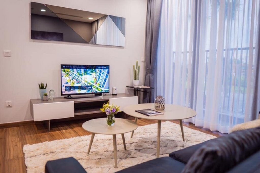 Không gian phòng khách Central Premium cực thoáng và hiện đại