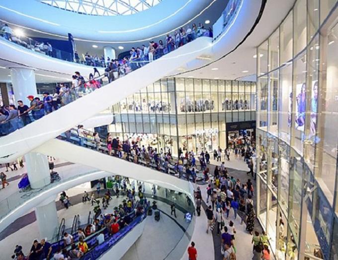 Phối cảnh tầng 1 và 2 trung tâm thương mại của dự án Central Premium
