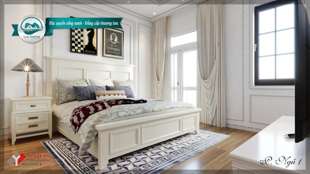 Phối cảnh phòng ngủ dự án Lux Home Garden