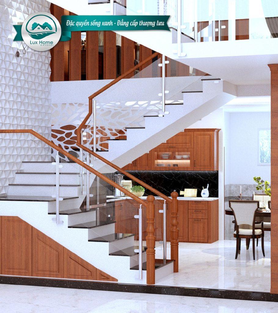 Phối cảnh tầng trệt dự án Lux Home Garden