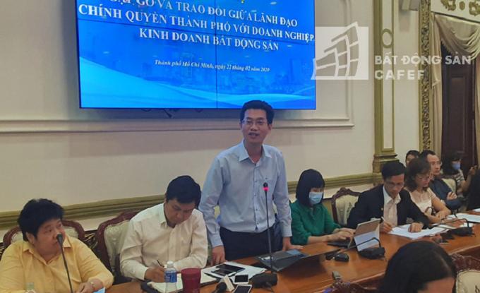 Đại diện Tập đoàn Nam Long cũng bày tỏ những khó khăn vướng mắc với lãnh đạo TP
