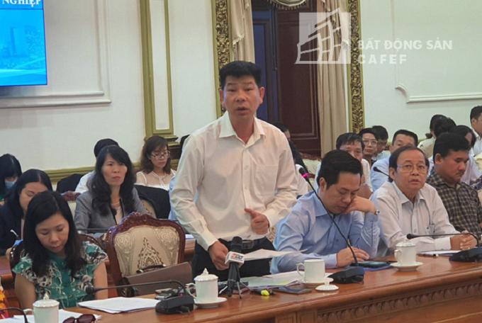Ông Lê Hữu Nghĩa, Giám đốc Công ty Lê Thành kêu khổ với lãnh đạo TP về 2 dự an đang bị vướng